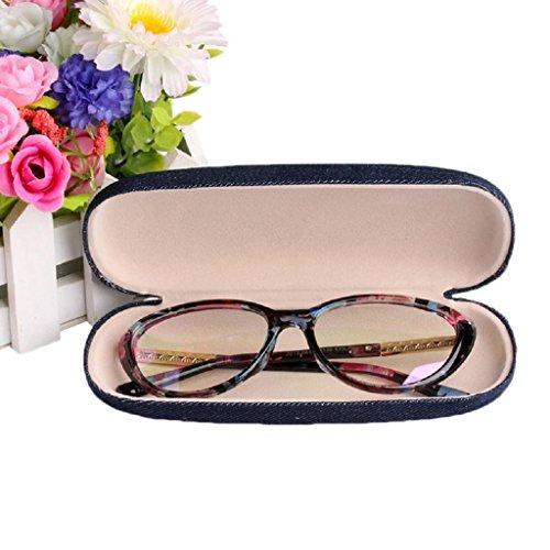 NNDA CO Denim Pouch Sunglasses Eye Glasses Hard Case Eyewear Protector Storage Box New,Cloth - Eyewear Co And