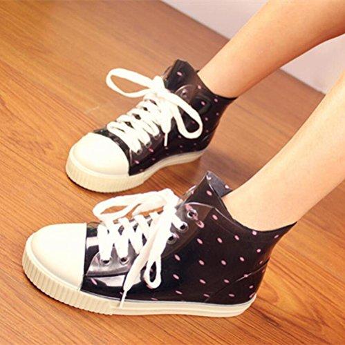 de bajo zapatos para ayudar zapatos de 1 de tamaño botas lluvia goma gran los Botas lluvia agua zapatos de Sra de a La vqzaxC8nXv