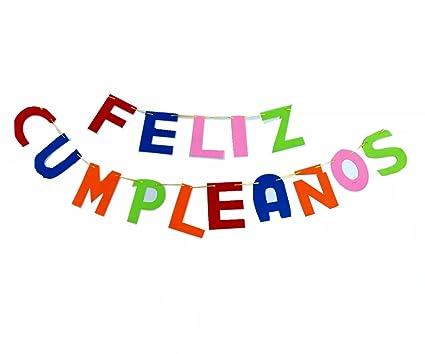 Cotigo-Guirnalda Letras Feliz cumpleaños de Fieltro ...