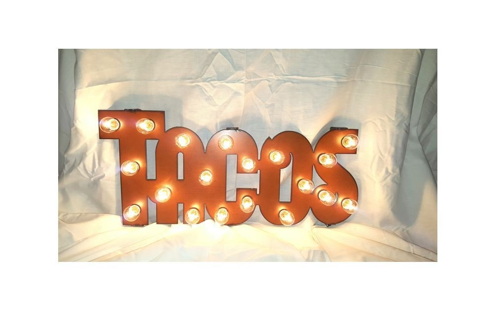 Tacos Retro Lighted Sign Marquee Vintage-Inspired