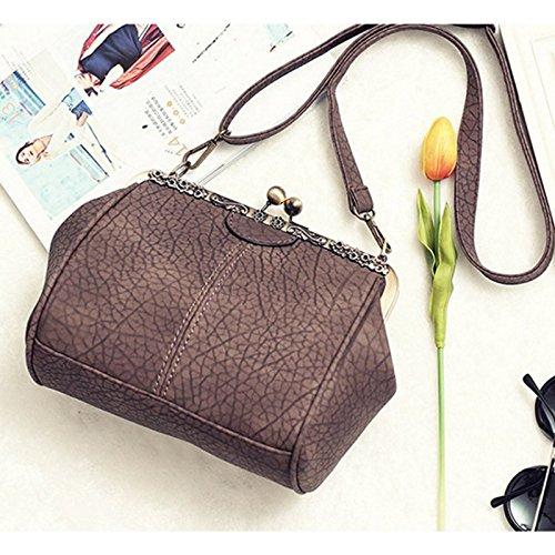 Leather Handbag Chains Minimalist Bag Lock Pt6 Kiss Ladies Crossbag Purse Retro Abuyall Satchel Diamonds Appliques Shoulder Totes Pu wF1Xxp