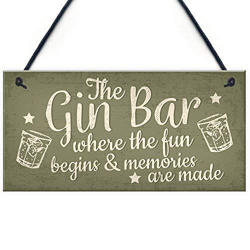 qidushop Bar - Cartel de Madera para Colgar en el hogar, Bar ...