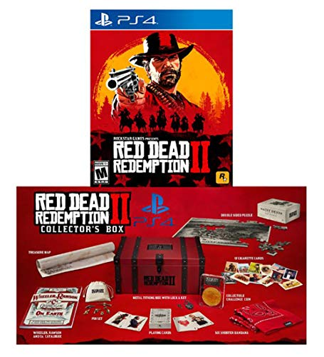 Red Dead Redemption 2 Collector's Box With Game Bundle (PlayStation - Red Collectors