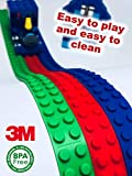 Tapemania - Building Block Tape For Lego MegaBloks Kre-O | Reusable Cuttable Silicone Strips | Safe Toy for Kids 3+ | 3M Self Adhesive Tape | 3 Colors 3.3ft per Roll | Best Educational Sensorial Gift