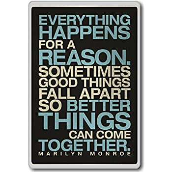 Amazoncom Everything Happens For A Reason Marilyn Monroe