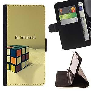 - PUZZLE INTENTIONAL MATHEMATICS GAME CUBE - - Prima caja de la PU billetera de cuero con ranuras para tarjetas, efectivo desmontable correa para l Funny HouseFOR Samsung Galaxy S6
