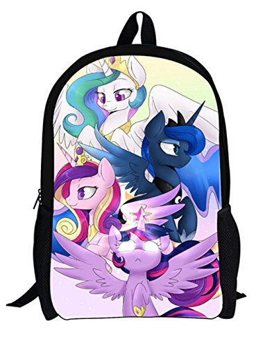 My Little Pony Shoulders Bag Preppy Style Cartoon Backpack Students Schoolbag (Style4)