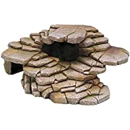 Penn-Plax Shale Step Ledge and Cave Hide-Out Medium Aquarium Resin