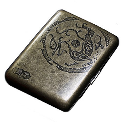 Shonan Fashion Durable Antique Nobility Bronze Men's Cigarette Case Cig Holder (Dragon) (Electronic Menthol Cigarette)