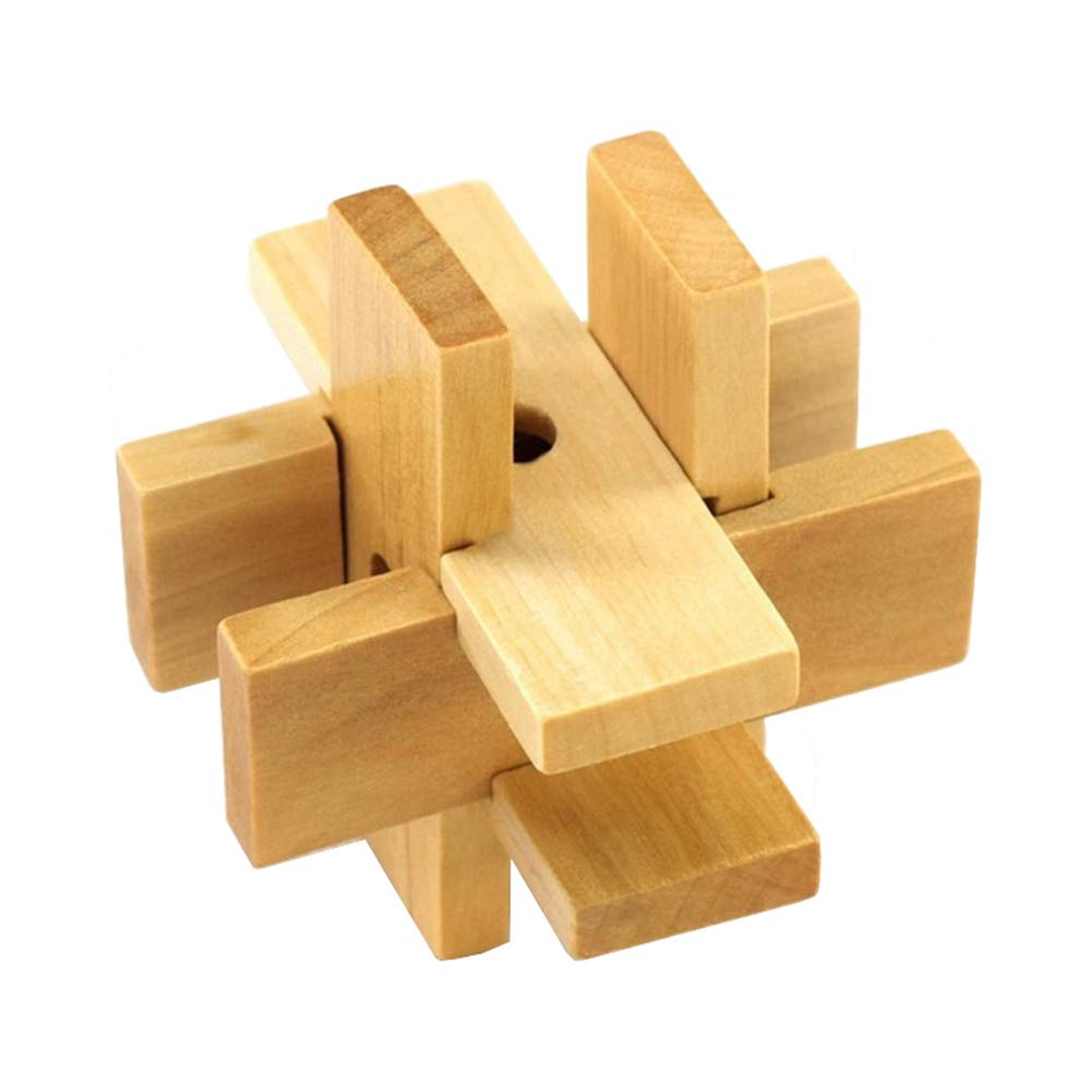 JIAAE Classical Puzzle Kongming Lock Wooden Children's Intelligence Toy