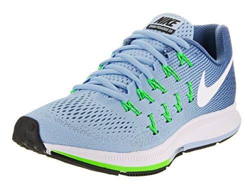 Nike Women's Air Zoom Pegasus 33 Bluecap/White Ocean Fog Rg Grn Running Shoe 8 Women US
