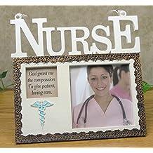 Nurse Picture Frame - God Grant Me the Compassion Poem with a Caduceus - National Nurse Week