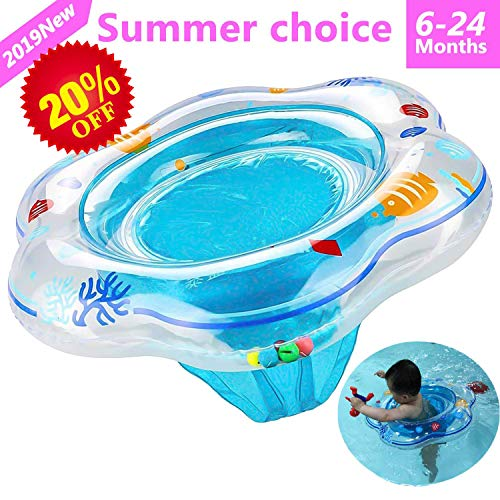 Baby Inflatable Float Double Swim Ring with Safety, used for sale  Delivered anywhere in USA