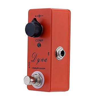Brovy (TM) portátil Dyna Compresor Para Guitarra eléctrica Pedal de efecto ligero Mini Solo con efecto True Bypass Guitarra Piezas y accesorios: Amazon.es: ...