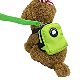 Fully Dog Backpack Durable Pocket Saddle Bag Mini Carrier Harness with Training Lead Leash Hiking Walking Travel (color ramdom) (M, color random)