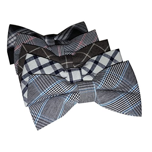 Ravenhill Premium Adjustable Neck Tie Bowties 5-pack (Formal Stripes)