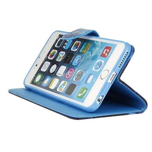 iPhone 6 Plus / 6S Plus 5.5 inch Coque , Apple iPhone 6 Plus / 6S Plus 5.5 inch Coque Lifetrut® [ Bleu dreamcatcher ] [Porte] [Card Slot] Prime PU cuir flip stand Wallet Case Cover Avec lanière Coque