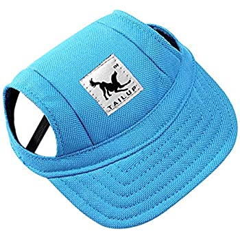 be3e83cb8e36e Dog Hat Pet Baseball Cap  Dogs Sport Hat   Visor Cap with Ear Holes and  Chin Strap for Small Dogs (Size S