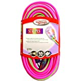 Coleman Cable 2549-77 100-Feet 12/3 Neon Outdoor Extension Cord, Pink/Green