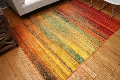 Feraghan/Radiance Collection Art Contemporary Collection Modern Lines Gradient Wool Area Rug