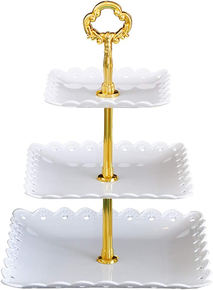 ZPCA102 3-Tiers Plastic Cake Stand-Dessert Stand-Cupcake Stand-Tea Party Serving Platter