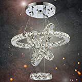 Dixun Crystal Chandeliers Modern LED 4 Rings