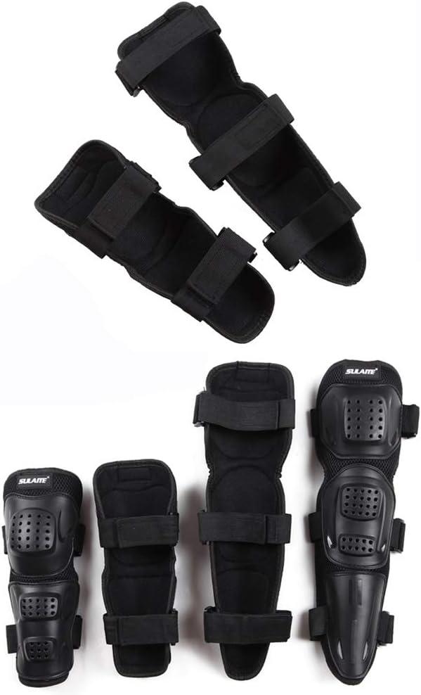 RENNICOCO 4 Pezzi Moto Protezione del Gomito del Ginocchio Protezione Motocross Racing Protezioni parastinchi per Gli Adulti