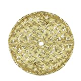 Northlight 20'' Decorative Gold Sequin Snowflake Pattern Mini Christmas Tree Skirt