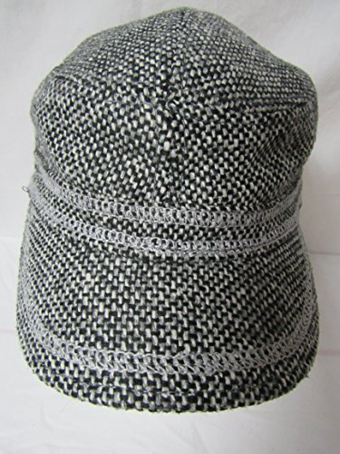 Lids L/XL PL Tweed Military w/Contra St Stitch Black/White Baseball Cap Hat E1 (Military Tweed Hat)
