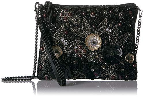 Mary Frances Pardon Me, Black Embellished Wristlet Handbag