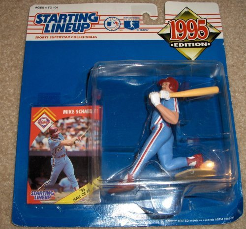 1 X Mike Schmidt Action Figure - 1995 Major League Baseball Starting Lineup Sports Superstar Collectible