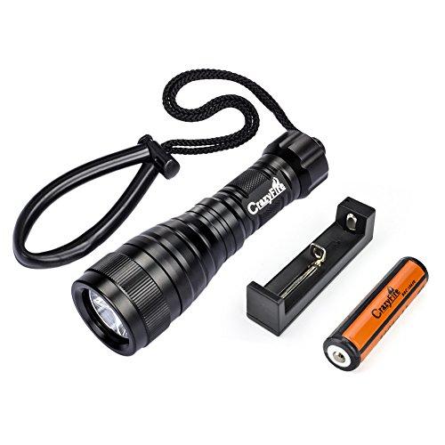CrazyFire Underwater Waterproof Flashlight Rechargeable product image
