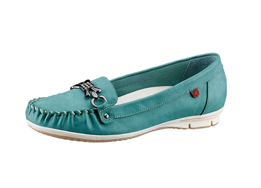 Hush Puppies - Mocasines de cuero sintético para mujer turquesa turquesa, color turquesa, talla 39: Amazon.es: Zapatos y complementos