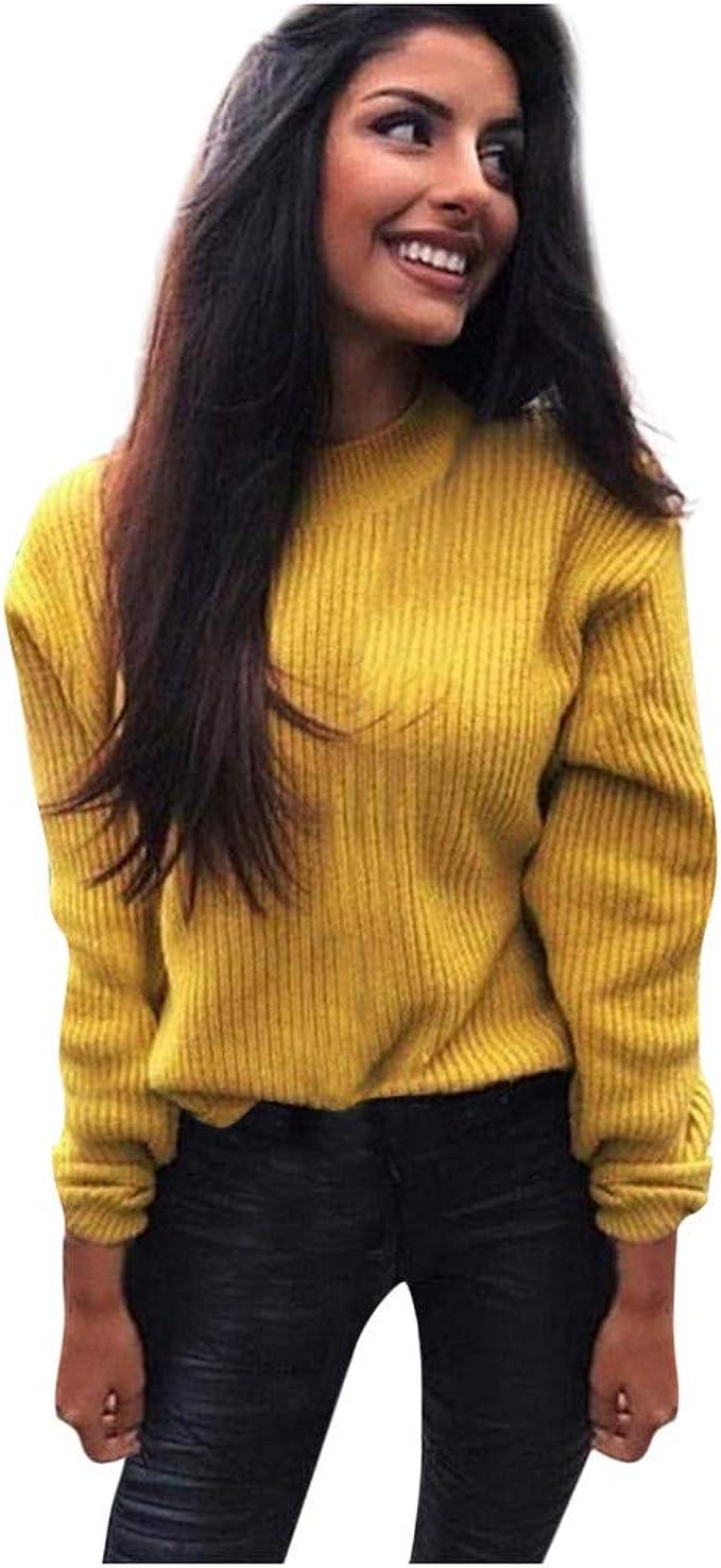 VEMOW SuéTer Mujer Moda Tipo con Cuello De Tortuga Manga Larga AlgodóN Sudadera Casual Camiseta Tops Camisa Blusa Pullover OtoñO Invierno: Amazon.es: Ropa y accesorios