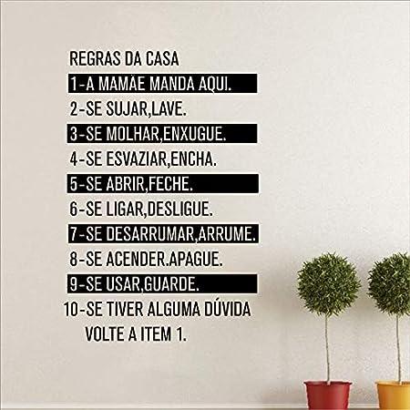 Portugal Version Regles De La Maison Vinyle Mur Art Decal