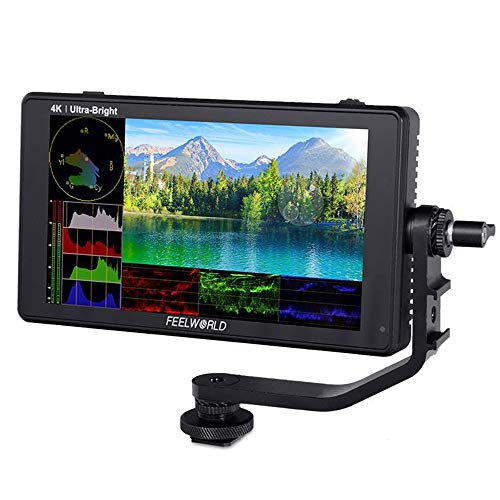 Feelworld LUT6S 6 inch Ultra Bright 2600nits HDR 3D LUT Waveform VectorScope Touch Screen Field DSLR Monitor with 3G-SDI 4K HDMI Full HD 1920x1080 IPS…