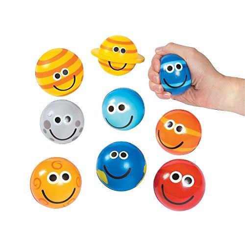 Fun Express - Solar System Stress Balls - Toys - Balls - Relaxables - 9 Pieces ()