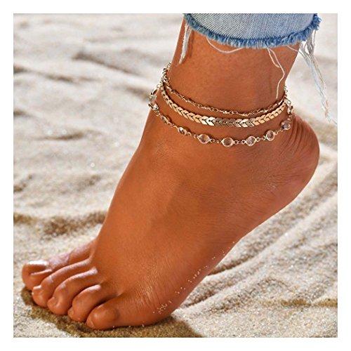 Zoestar Three-Layer Anklet Ankle Bracelet...