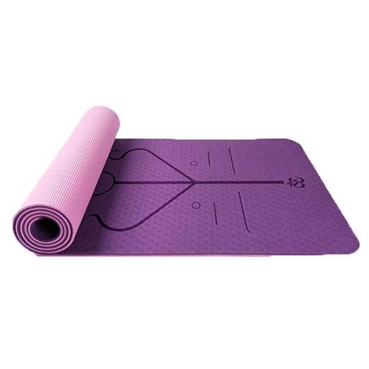 QBL Estera de Yoga, Doble Capa, línea de Cuerpo de Dos ...