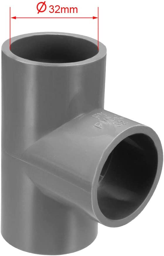 sourcing map 20mm 90/° raccord tuyau en PVC gris Adaptateur Raccord coud/é 10 Pcs