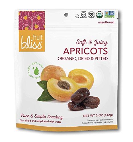 Juicy Apricot - Fruit Bliss Organic Fruit Snacks, Juicy Turkish Apricots, 5 oz (3 Pack)
