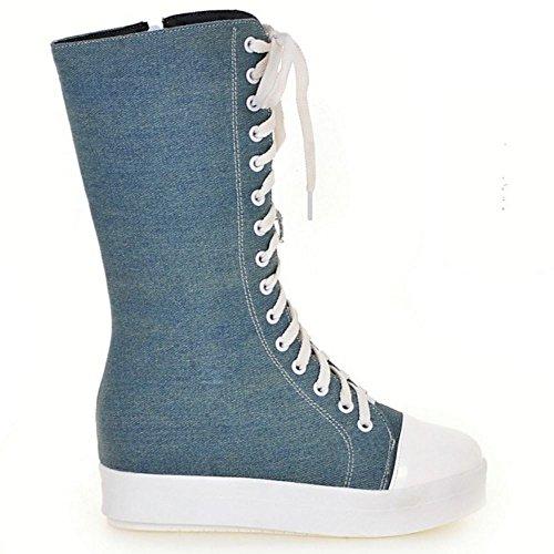 Canvas Women Blue Zanpa Fashion Boots Zipper nfPqwR0T