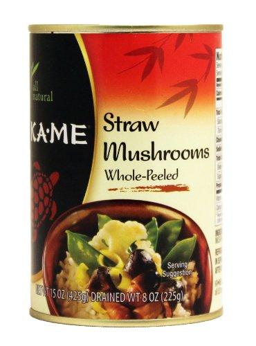 Ka-Me Straw Mushrooms, 15-Ounce Cans (Pack of 6) by Ka-Me