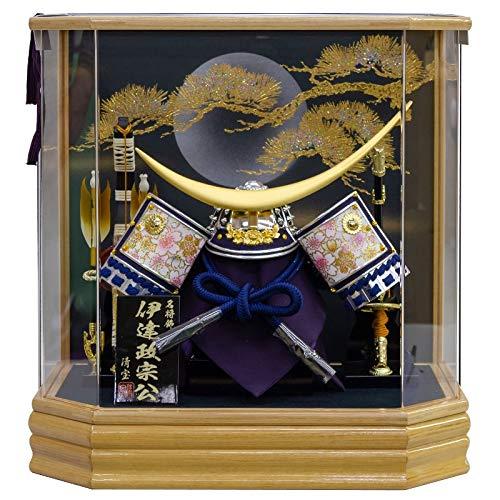五月人形 兜 ケース飾り 伊達政宗 10号幅42cm[fz-149] B07N2J568H