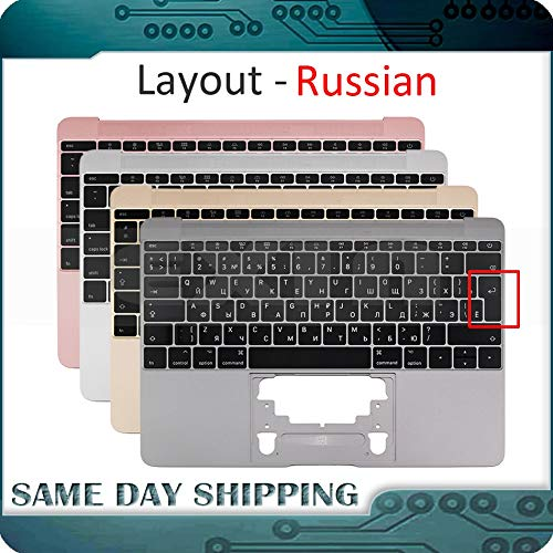- ShineBear for MacBook 12'' A1534 Russian Russia RU Keyboard w/Topcase Palm Rest Top Case 2015-2017 Gold/Gray/Silver/Rose Gold Color - (Cable Length: 2015, Color: Gold Color)