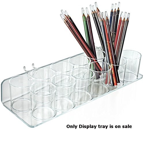 Count of 2 Clear Twelve Cup Tray for Pegboard/Slatwall 14.5''W x 5''D x 2.625''H by Cup Tray