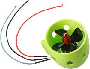 RC Boat Thruster 12-24V, Model Boat Underwater Thruster Brushless Motor 4-Blade Nylon Propeller DIY for RC Bait Tug Boats