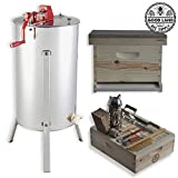 Goodland Bee Supply 2 Frame Honey Extractor with Honey Bee Brood Box & Bee Hive Tool Kit - GLBSEBROODCTS1