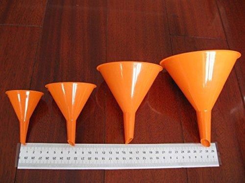 Hosaire Embudo Set Pl/ástico Embudos para cocina Laboratorio de garaje L/íquidos de coche