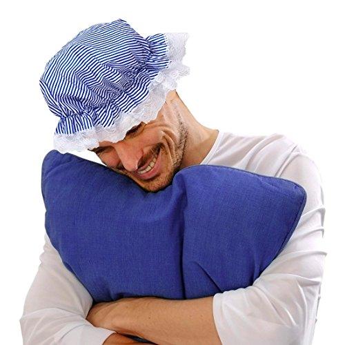 NET TOYS Berretto medievale da notte bianco e blu cappello da cameriera  cuffietta da domestica  Amazon.it  Giochi e giocattoli c5757af5078e